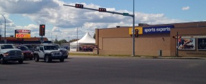 20 meters from Grande Prairie's second busiest intersection.